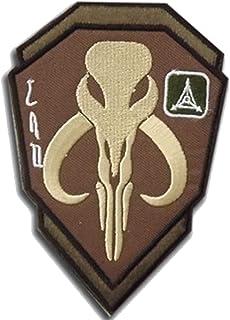 Mandalorian Mythosaur Skull Crest Bounty Hunter Boba Fett Shield Embroidered Patch, Tactical Morale Military Emblem Badges...