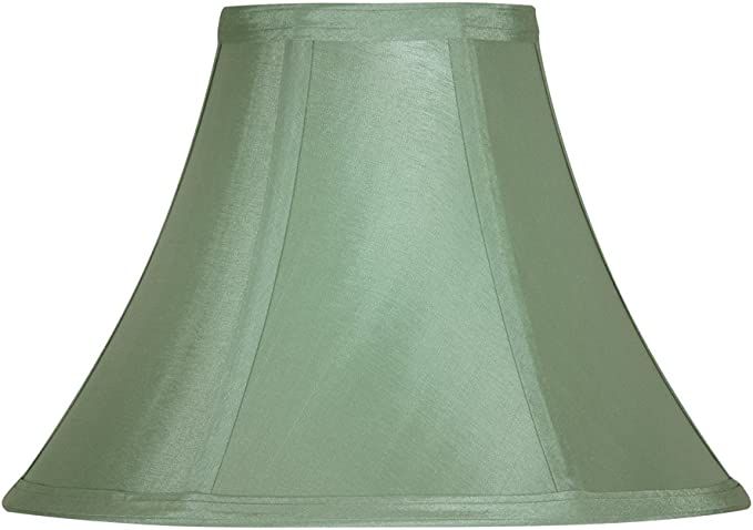 Amazon Com Oaks Lighting Faux Silk Empire Shade 8 Inch Sage Green Fabric Home Improvement