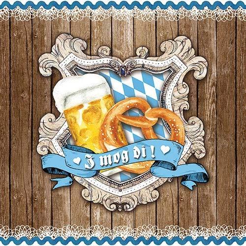 Ambiente Papier Servietten Lunch Party Fest Ca. 33x33cm Brezel & Bier I Mog Di
