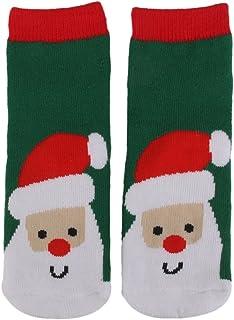 Ninos Bebe 1-3y Navidad Navidad Calcetines De La Novedad De Los Muchachos De Regalo De Santa De Impresion