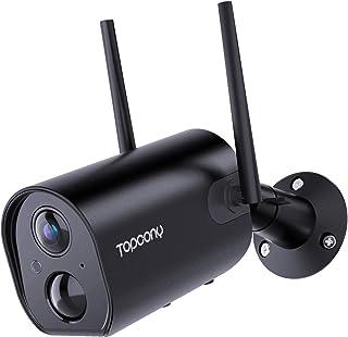 【Nuova Versione】Telecamera di Sorveglianza con Durata Della Batteria di 240 Giorni, Topcony 1080P FHD Telecamera Wifi Inte...