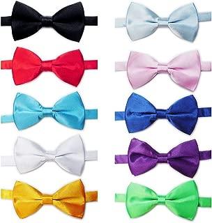 Mens Tuxedo Bow Tie Adjustable Neck Bowtie 10pc Mixed Lot Solid Color