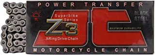 JT Sprockets 108 Link JTC525Z3108RL Steel 108-Link Super Heavy Duty X-Ring Drive Chain (525Z3)