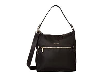 Hedgren Oblique Hobo (Black) Hobo Handbags