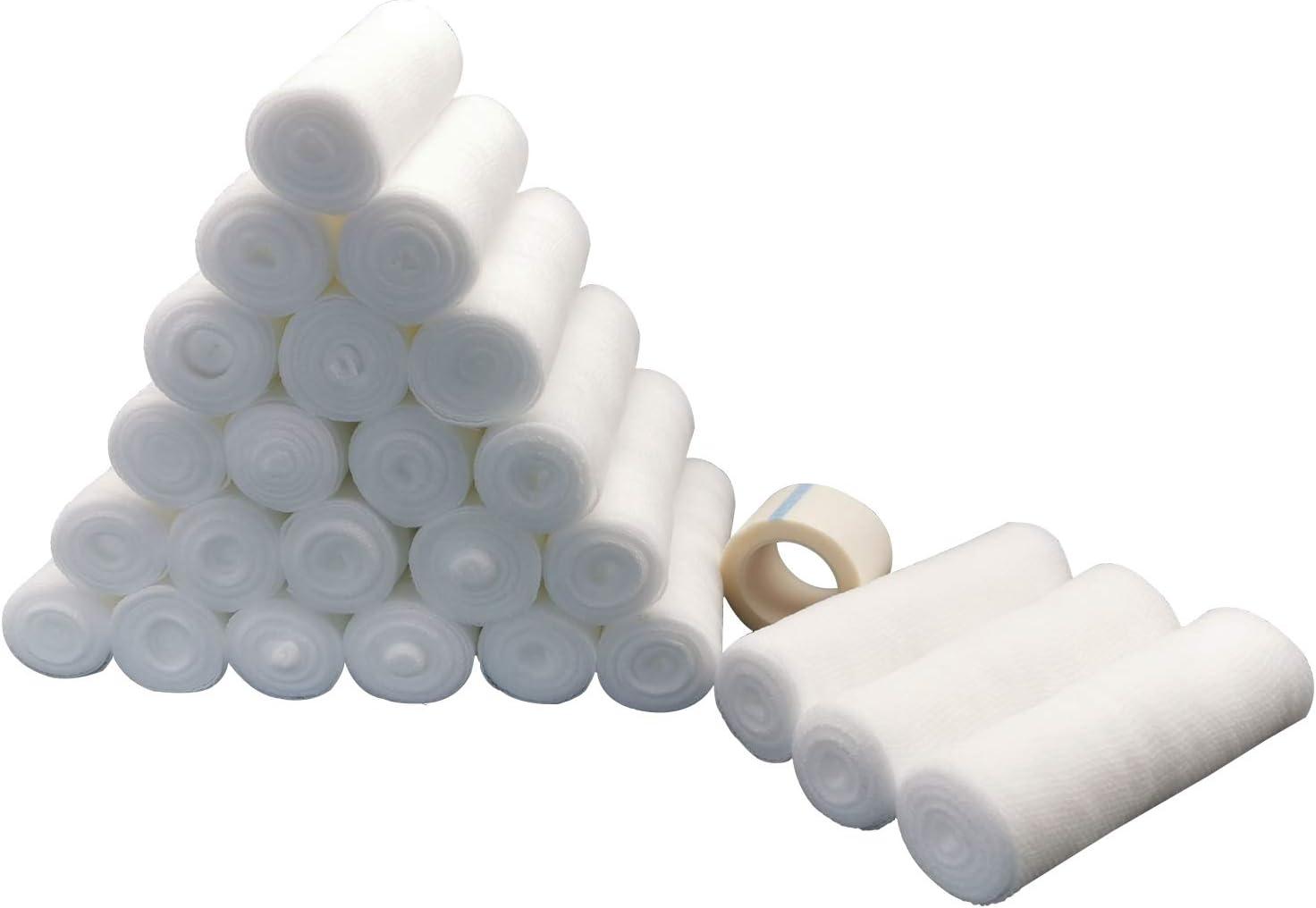 ZJCCTO Medical Award-winning store 24 Bulk Sale SALE% OFF Gauze Stretch Inch Bandage x 4 Ya Roll