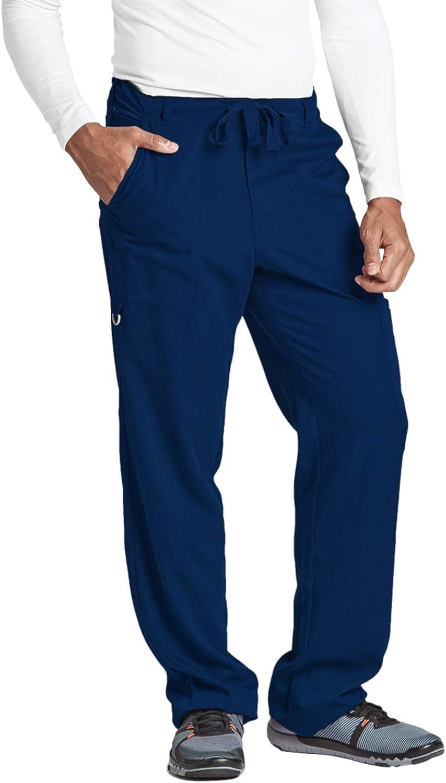 BARCO Men's Big 6 Pocket Zip Fly Drawstring Scrub Pant