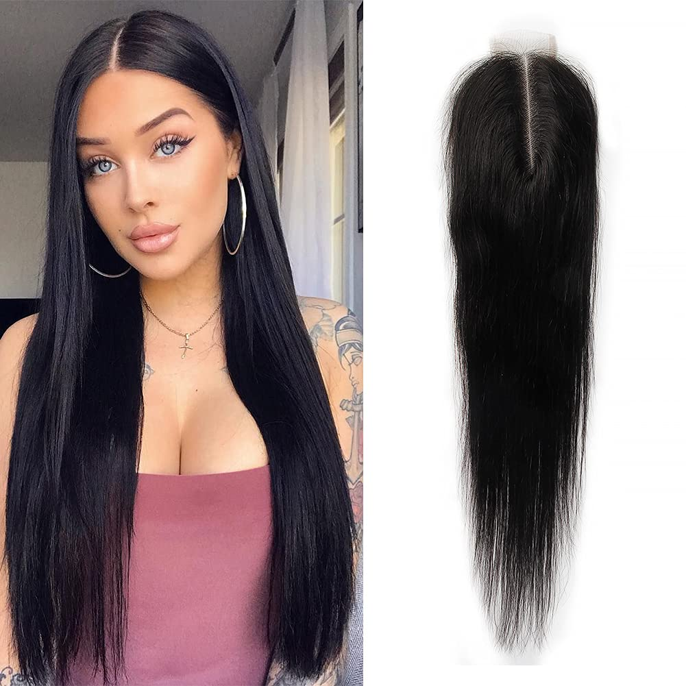 Straight 2x6 Lace Closure Middle Part Kim 5 ☆ popular Clos 100% Human K Hair Translated