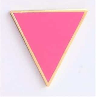 1000 bandiere rosa triangolo LGBT Gay Pride placcato oro Pin Badge