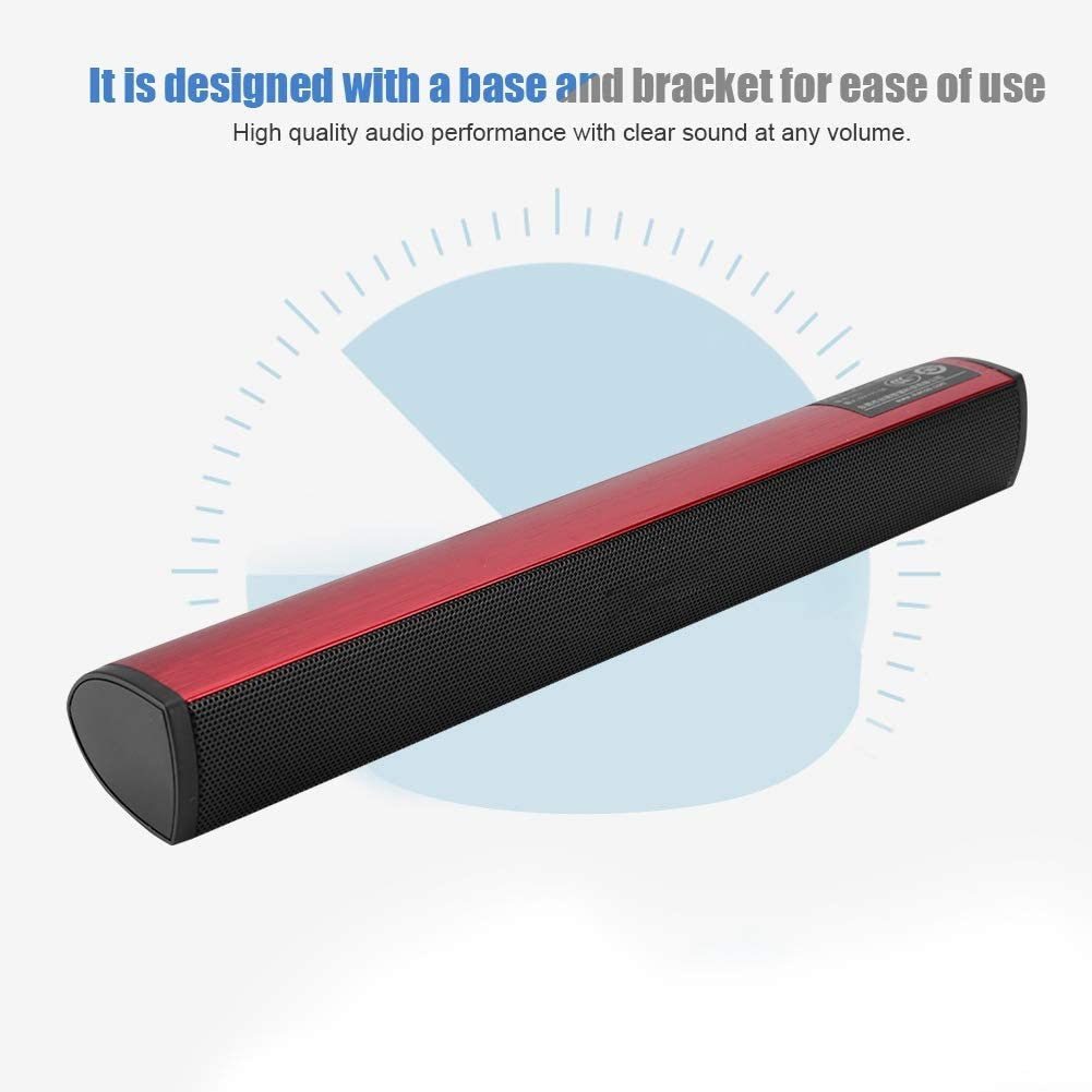 Red USB Internal Stereo Sound Adapter Soundbar Subwoofer Loudspeaker for PS4//Laptop//PC Audio Adapter Stereo Sound Card Converter