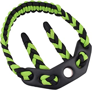 ELONG OUTDOOR Archery Bow Wrist Sling Paracord Braided- Survival Hunting Shooting - Durable Leather-5 Color