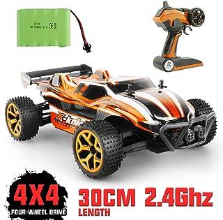 175bcd7c5 GizmoVine Coche RC 2.4 GHz 1:18 Radiocontrol Teledirigido Camión de Juguete  4WD para niños