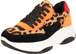 Cambrige Select Women's Retro 90s Ugly Dad Colorblock Lace-Up Chunky Platform Fashion Sneaker