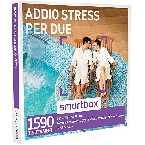 Smartbox - Addio Stress Per Due - 1590 Momenti Rilassanti, Cofanetto Regalo, Benessere