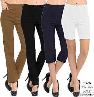 VIV Collection New Women's Straight Fit Trouser Pull-On...