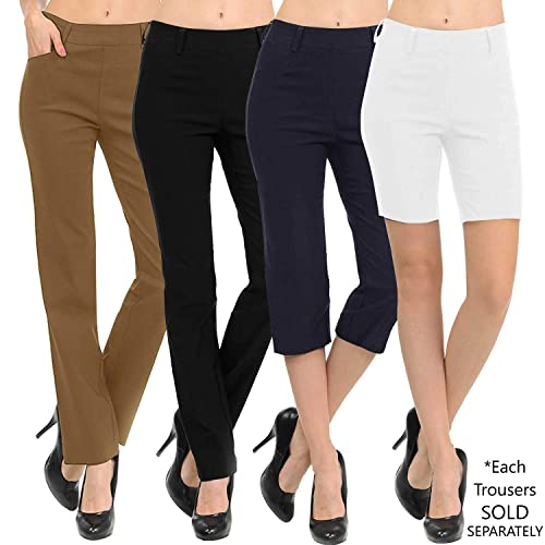 0de60b5f58b VIV Collection New Women s Straight Fit Trouser Pull-On Pants