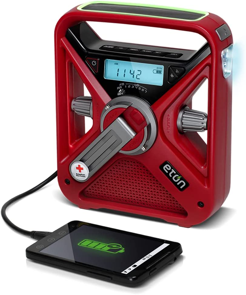 Eton, American Red Cross FRX3+ Emergency NOAA Weather Radio, One Size (ARCFRX3+WXR)