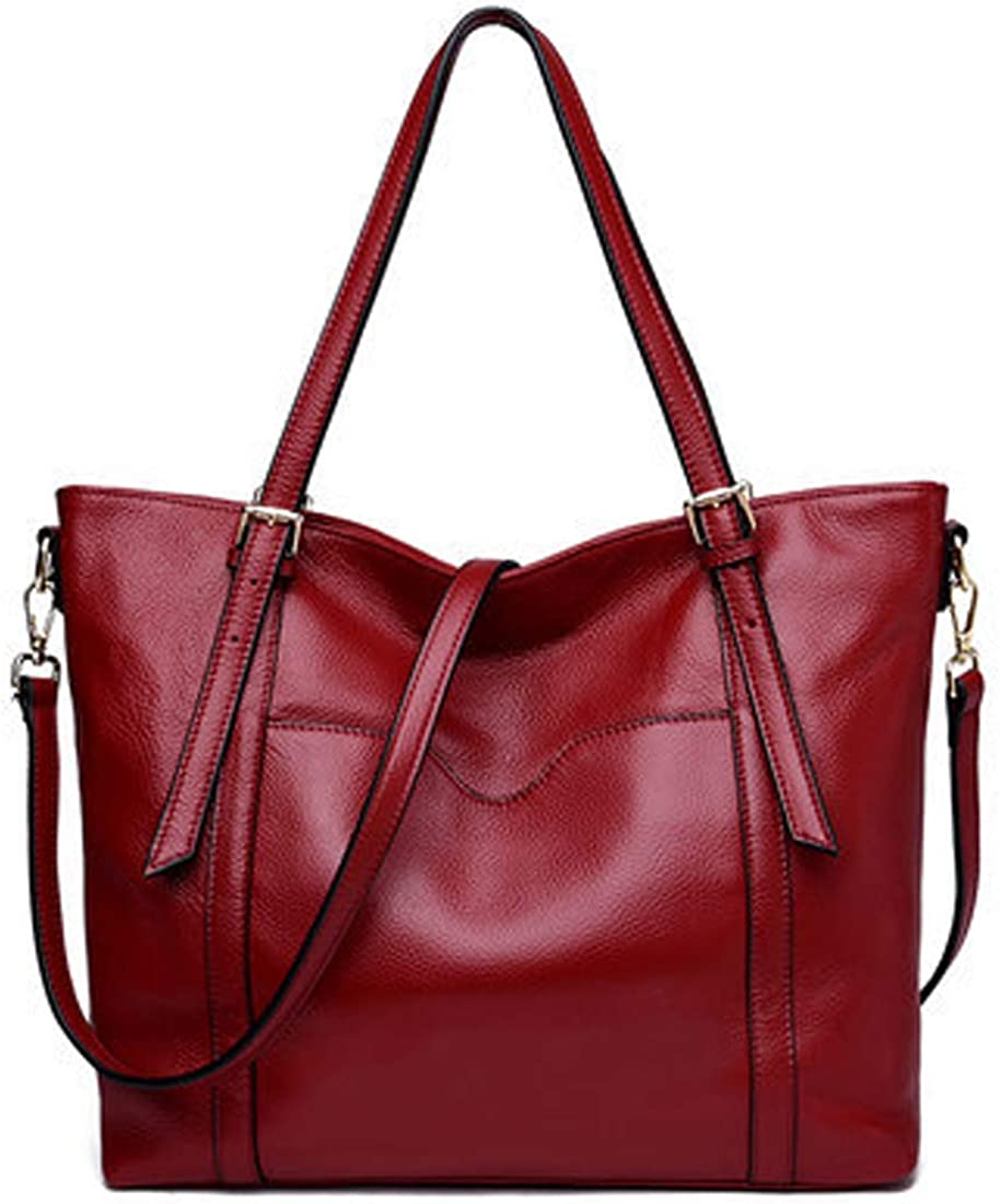 Heshe Womens Genuine Limited time for Ranking TOP3 free shipping Leather Satchel Shoulder Designer Handbags