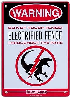 Factory Entertainment Jurassic World - Raptor Fence Metal Sign (6 8)