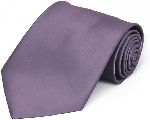 8 Length TieMart Boys Amethyst Purple Solid Color Clip-On Tie