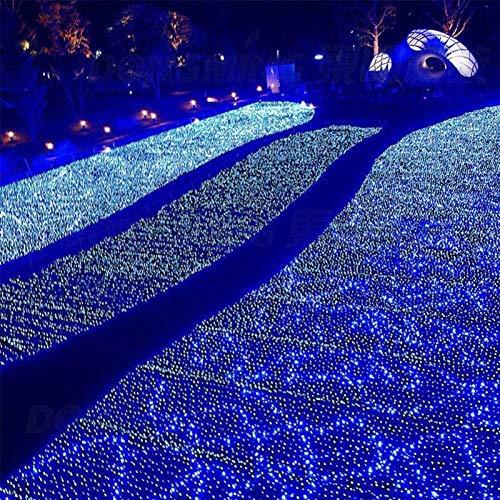 HTTIB LED Luz de Navidad al Aire Libre Impermeable 8 Modos de Cadena Luces Azul Fuera del árbol de Navidad Luces netas Pergola Pared del Dormitorio Decoración (Color : 5x5ft/1.5x1.5m)