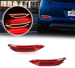 GTINTHEBOX Red LED Rear Bumper Reflectors Brake Tail Lights, Rear Fog Lamp Assemblies Kit for 2016 2017 2018 Hyundai Tucson IX35