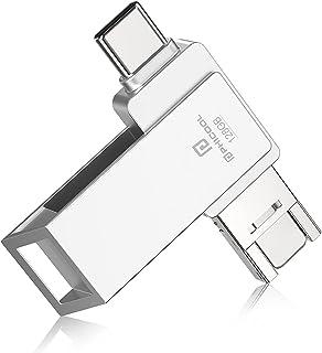 【2021 日本限定】4in1 Phone用 usbメモリー ipad pro/ipad air対応Android PC 人気 USB 両面挿し スマホ USB メモリー USBフラッシュドライブ Android パソコン対応 USBメモリ O...
