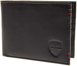 Arsenal FC Mens Leather Stitched Wallet (UK Size: One Size) (Black)