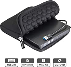 ROOFULL USB 3.0 External DVD Drive with Protective Storage Carrying Case Bag, Portable CD..