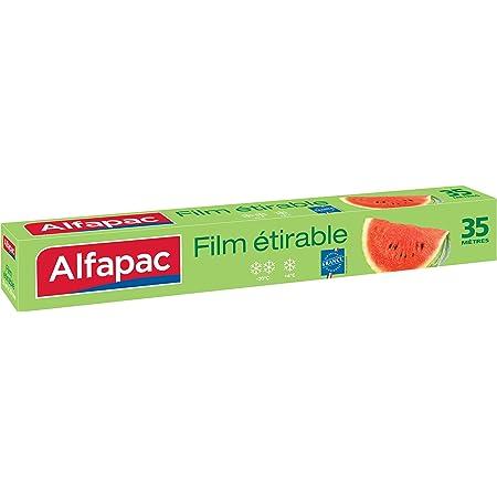 ALFAPAC - Film étirable 35M - Conserve la fraîcheur des aliments - Fabriqué en France