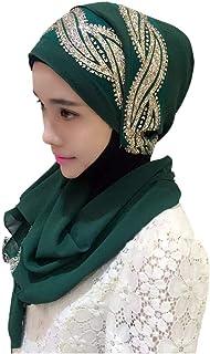 865a5d9e62 Hzjundasi Femme Musulmane Hijab Islamique Foulard Voilées - Écharpe Turban  Châles De Ramadan Couvre-Chef