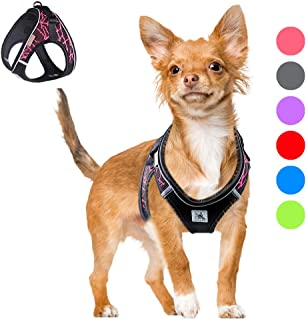 Bororo Comfort Step in Dog Harness Easy to Put on Small Dog Harness Choke Free Adjustable Pet Vest No Pull Outdoor Sport Vest Harness Reflective Soft Padded Vest for Small Medium Dogs Puppies
