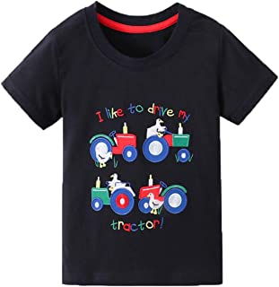Mengmeng Cartoon Crocodiles Dinosaur Tee 100% Cotton Baby Boy Short Sleeve T-Shirt