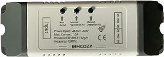 MHCOZY 2CH WiFi RF Draadloze Schakelaarrelais, Inching Zelfvergrendelende Interlock-modus, Ewelink App Afstandsbediening v...