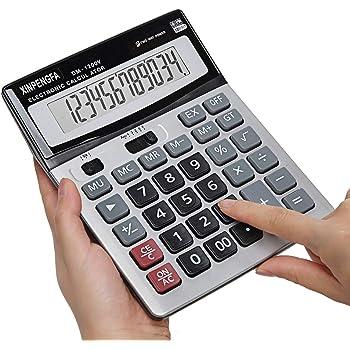 Desktop Calculator Solar Display Basic Office Business Basic 12Digit LCD Display
