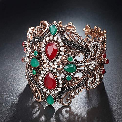 Vintage Big Elastic Resin Bangles Cuff Bracelets Hand Accessories Turkish Wide Bangle For Women Sculpture Wrist Diameter 59Mm