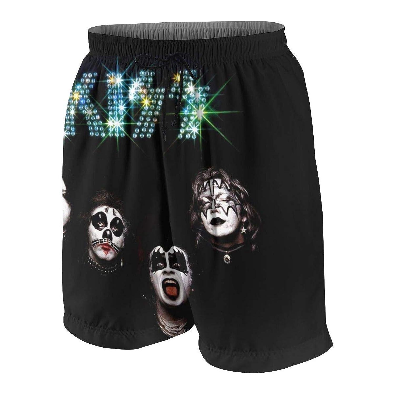 ビーチパンツ KISS ロックバンド? ショートパンツ 水着 男の子 海水パンツ 少年 速乾 薄い 夏 スポーツ