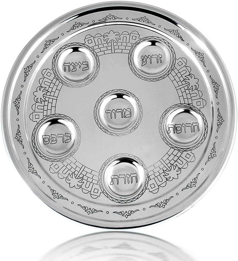Zion Judaica Passover Seder Jerusalem Award-winning store Colle shopping Plate Classics