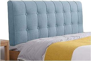 LXLIGHTS Gepolstertes Kopfteil Nachtkissen Ruckenlehne Taillenauflage Bettkeil Sofakissen Erker Flachs Color Blue