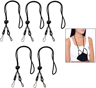 Mask Lanyard, DELFINO Mask Lanyard Hang Around The Neck No More Lost Dropped Masks with Safety Breakaway Clasp, For Kids A...