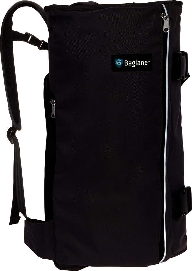 BagLane Hybrid Commuter Backpack Garment Bag - Travel Carry On Suit Bag (Black)
