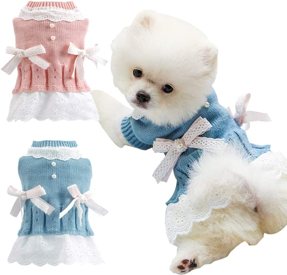 Ranking TOP17 BabYoung Import Girl Dog Clothes Knitted Dress - Sweaters Pet Knit