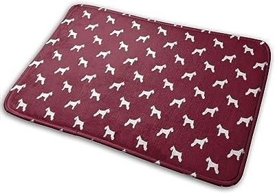 """Schnauzer Silhouette Dogs - Ruby_19013 Doormat Entrance Mat Floor Mat Rug Indoor/Outdoor/Front Door/Bathroom Mats Rubber Non Slip 23.6"""" X 15.8"""""""