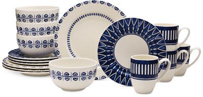 Mikasa Dinnerware 16-Pc. Siena Blue Set, Service for 4 - Dinnerware - Dining & Entertaining - Macy's
