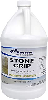 Stone Grip Industrial Non-Slip Floor Treatment for Tile and Stone to Prevent Slippery Floors. Indoor/Outdoor, Residential/Commercial, Works in Minutes for Increased Traction (Gallon)