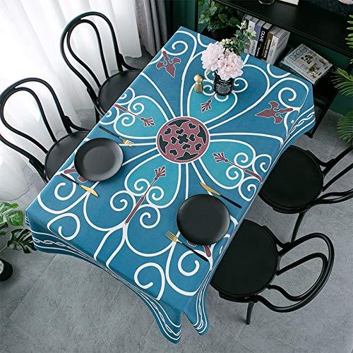 WHDJ Chenille Tischdecken, rutschfeste Anti-Staub-Tischdecke mit kreativem Muster Einfache Reinigung Schnelltrocknende Tischdecke ohne Verblassen