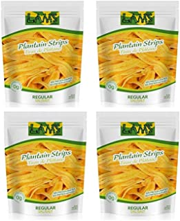 Lam's Plantain & Yuca Chips 12oz (Platain Chips 4 Pack 12 oz, 12 oz)