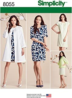 Simplicity 8055 Women's Dress, Jacket, and Coat Sewing Patterns, Sizes 8-16