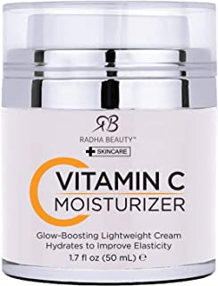 Glow Boosting Vitamin C Moisturizer, 1.7 fl oz. for Face, Neck, Decollete - Super Moisturizing Facial Lightweight Cream for Women & Men, Anti-Aging & Brightening - Daily for Dry, Sensitive & Oily Skin
