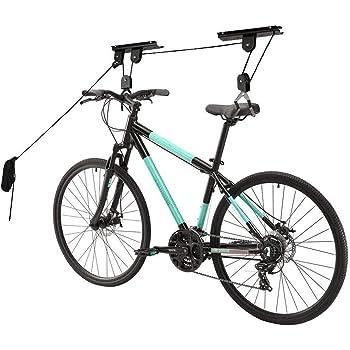Soporte Bicicletas Pared, Soporte Bicicleta Suspensiónde la Bicicleta con 3 Poleas, con Cuerda Ajustable de 45ft | Capacidad de 20kg: Amazon.es: Bricolaje y herramientas