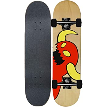 YEENUO スケートボード 31 x 8インチ標準スケートボードプロのショートボード7層メープルダブルキック凹面デッキ大人のトリックスケートボード大人、ティーン、子供向け スポーツ アウトドア